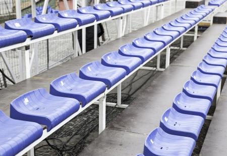 sports venue: Gradas en un estadio de f�tbol, ??detalle de una instalaci�n deportiva, asientos para los espectadores