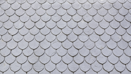 Slate roof in the city, detail of a roof covered with slate, safety and security, rain Фото со стока - 25466254