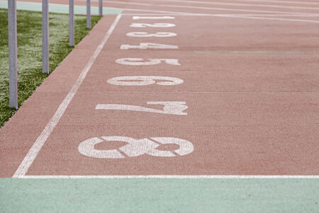 numerical: Numbers of a running track, detail of a running track, outdoor sports, healthy lifestyle