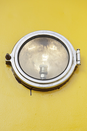 Focus round car, detail of an illumination element on a street vehuclo bulb photo