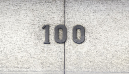 Number hundred in a house, a number of detailed information on the facade of a house