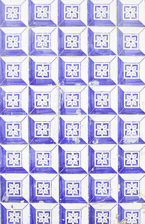 ���wall tiles���: Wall tiles with typical old Lisbon, detail of traditional decoration of Portugal, ceramic art Stock Photo