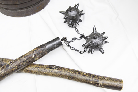 Ancient medieval maces, weapons of war and destruction
