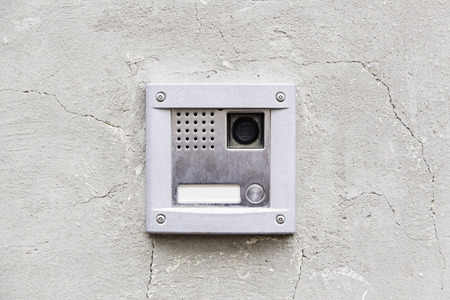 Intercom modern, detail of a communication device 스톡 콘텐츠