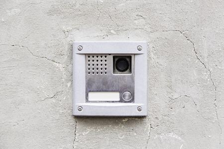 Intercom modern, detail of a communication device Фото со стока