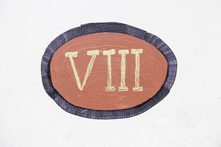 numeros romanos: Número romano ocho detalle sobre los números romanos