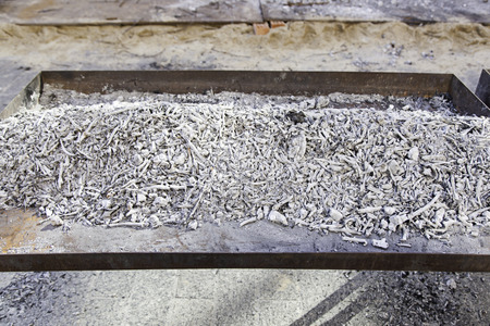burnt wood: Wood coals for a grill, hot burnt wood detail, ash