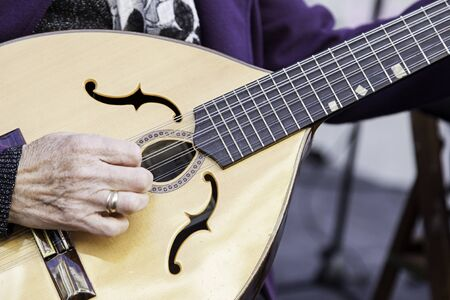 stringed instrument: Traditional mandolin, ancient stringed instrument, music Stock Photo