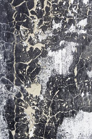neglect: Black white wall and damaged, detail of a wall with texture, neglect and ruin