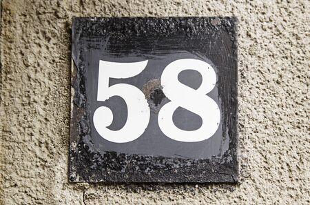 numeros: Número cincuenta y ocho, número de información de detalle, incluso el número