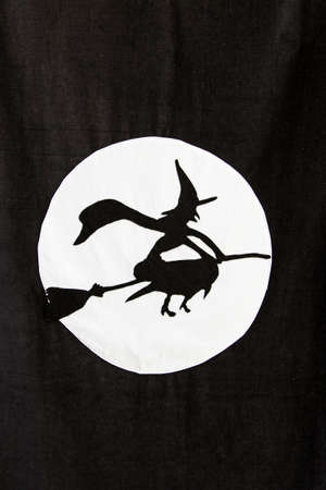 witchcraft: Witch silhouette, detail of a Halloween decoration, witchcraft Stock Photo