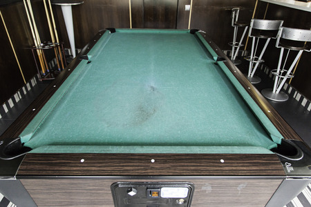 Pool Table In A Bar Detail Of A Board Game Competition Stock Photo - Competition pool table