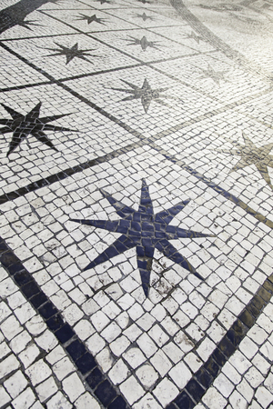 mosaic floor: Mosaic floor, detail of a typical floor of the streets of Lisbon