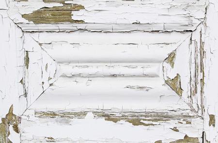 white door: Old white door, detail of a closed door