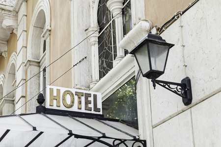 five star: Sign luxury hotel detail hotel five star luxury and elegance Stock Photo