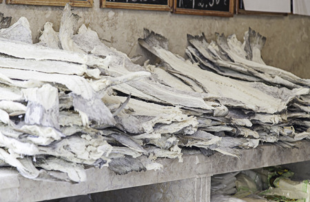 codfish: Lisbon dried codfish, fish conservation detail, healthy food