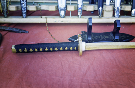 Japanese Katana and antique knives, detail knives, sale of antique weapons