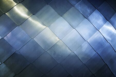 Titanium background, detail of a metalic decorated background, texture
