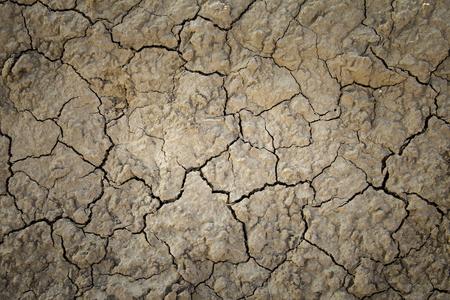 干ばつ、気候変動、砂漠と自然災害の詳細によって泥土壌を乾燥します。