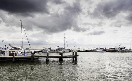 Port in Holland, detail of fishing port in the Netherlands Banco de Imagens
