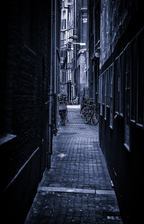 Amsterdam alley, Dutch city street, tourism in europe