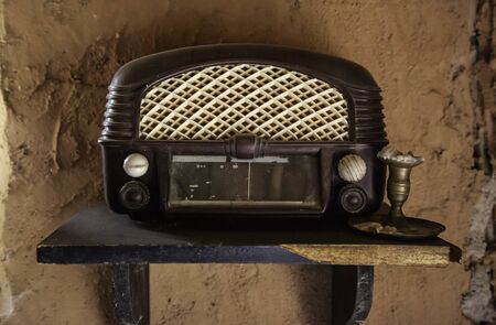 Old radio, detail of old communication