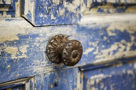 Blue wood background, old blue painted wood