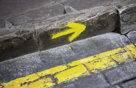 Information sign for pilgrims and pedestrians, Camino de Santiago in Spain