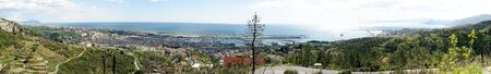 genoa: Overview of Genoa Sestri from the heights Stock Photo