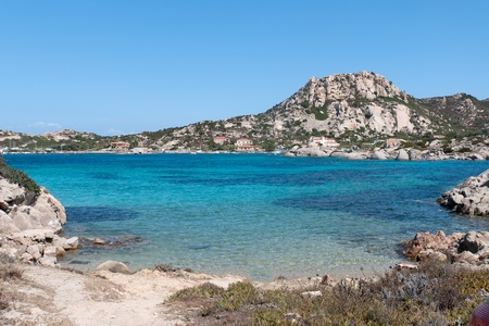 blue sea in the area Tegge on the island La Maddalena in Sardinia