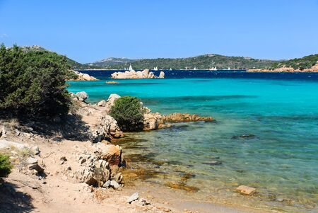 Sea of many colors on the island of La Maddalena in Sardinia