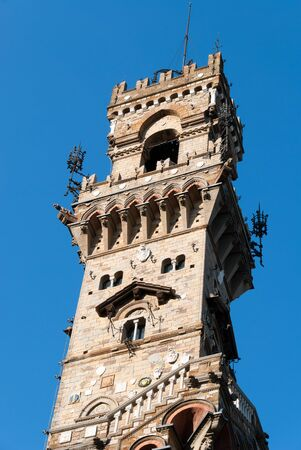 photos of the mackenzie castle tower in Genoa  스톡 콘텐츠