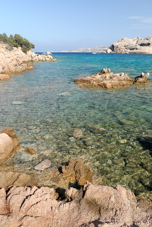Spalmatore beach on the Island  La Maddalena in Sardinia Stock Photo - 9802951