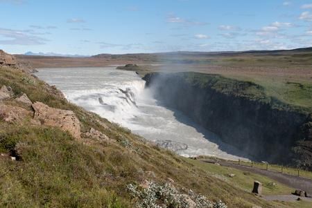 gullfoss waterfall in iceland photo