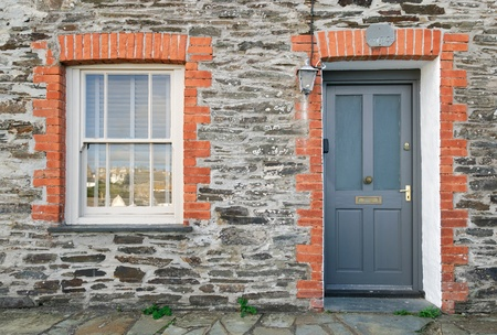 especially the house of Doc Martin in Port Isaac in Cornwall Stock Photo