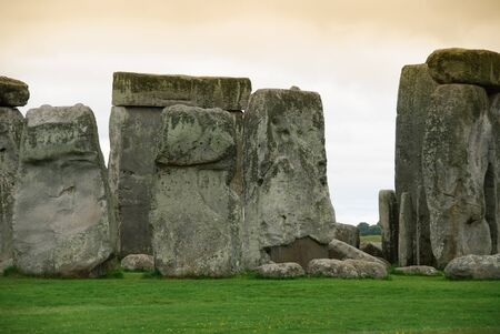 monolith: monolti in the archaeological site of Stonehenge
