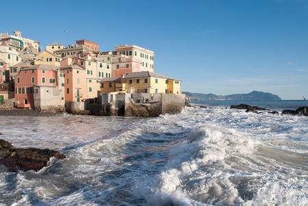 wzburzone morze: szorstkie morze do Genui do Boccadasse