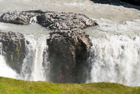 wonderful Gulfoss waterfall in Iceland photo