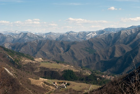 apennines:  mountains of Apennines  in Umbria, Italy Stock Photo