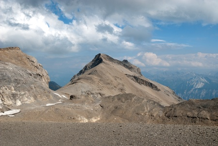mountains at high altitude in Switzerland