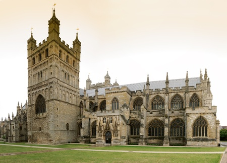 Overview of the Cathedral of St  Peter in Exeter