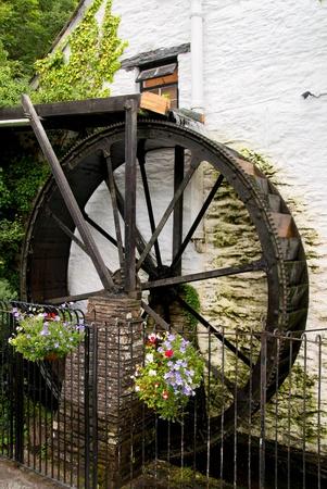 watermill: old watermill in Polperro in Cornwall