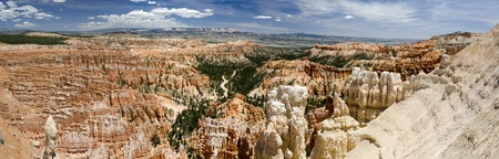 Overview in Bryce Canyon National Park in Utah in America photo