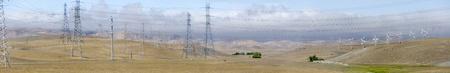 livermore: wind farm in Golden Hill Livermore in California in america Stock Photo