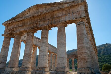 segesta: ancient temple of Segesta in Sicily