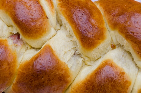 year's eve: soft bread stuffed with sausage for New Year s Eve in Sicily