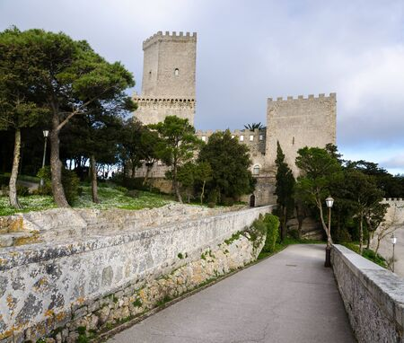 erice: castlein the village of Erice to Trapani Editorial
