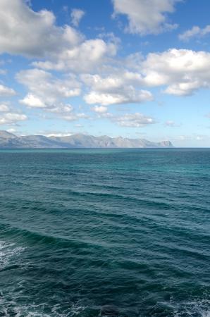 capo: sea in San Vito Lo Capo in Sicily Stock Photo