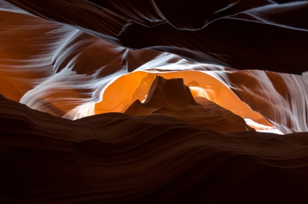 colors and shapes in the Antelope Canyon in Arizona Stock Photo