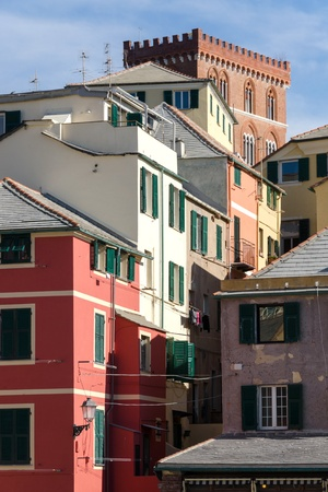 glimpse of the village of Boccadasse in Genoa Stock Photo - 17801100